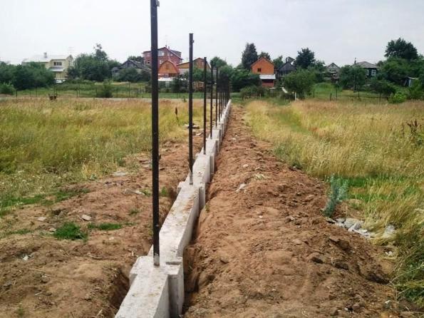 Заливка забора бетоном купить бетон с доставкой в раменском районе цена